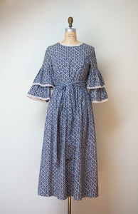 1970s Bell Sleeve Dress | Laura Ashley