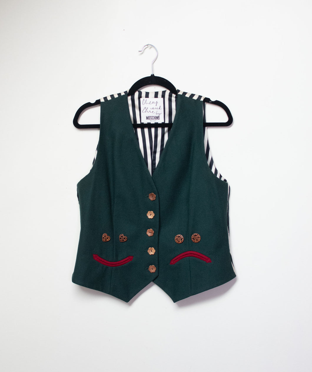 1990s Happy Sad Vest | Moschino