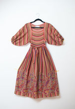 Load image into Gallery viewer, 1970s Rainbow Striped Dress | Albert Nipon