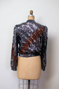 1980s Lightning Bolt Sequin Cardigan