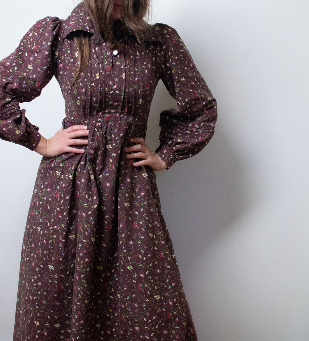 1970s Floral Print Dress | Laura Ashely