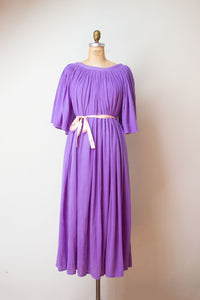 1980s Orchid Gauze Dress