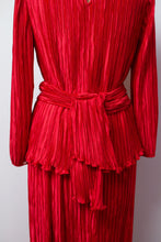 Load image into Gallery viewer, 1980s Red Pleated Dress