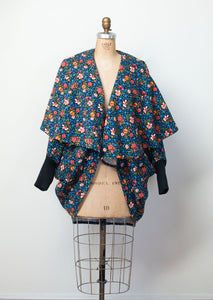1980s Floral Cocoon Coat | Norma Kamali