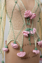 Load image into Gallery viewer, 1990s Crochet Rose Cardigan | Moschino