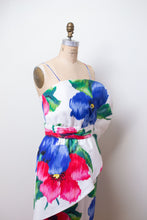 Load image into Gallery viewer, 1980s Sculptural Floral Print Dress