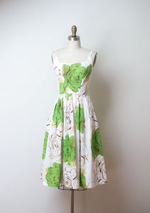 1950s Floral Print Sundress | Gallant