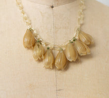 Load image into Gallery viewer, 1930s Celluloid Flower Bud Necklace