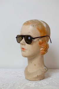 1940s Brown Aviator Sunglasses by Solarex