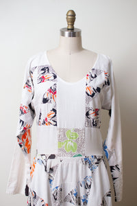 1990s Patchwork Dress