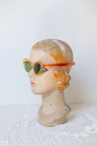 1940s Translucent Yellow Cut Out Sunglasses