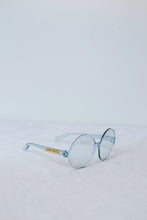 Load image into Gallery viewer, 1960s Round Translucent Sunglasses | Blue