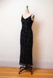 1990s Bias Cut Devore Dress