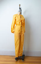 Load image into Gallery viewer, 1970s Tie Front Jumpsuit | Tangerine XS / S