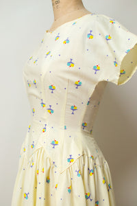 1950s Ice Cream Print Dress
