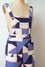 Load image into Gallery viewer, 1970s Patchwork Print Overalls