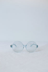 1960s Round Translucent Sunglasses | Blue