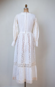 1970s Pintuck Cotton Dress | Tachi Castillo