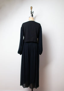1990s Balloon Sleeve Pants Suit