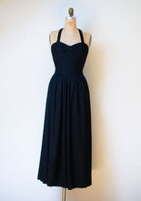 Load image into Gallery viewer, 1990s Black Tie Back Halter Dress