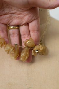 1930s Celluloid Flower Bud Necklace