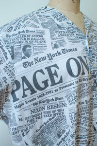 1980s Newspaper Print Nightgown | Page One