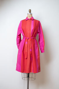 1970s Red and Pink Color Block Dress | Marimekko