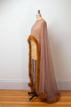 Load image into Gallery viewer, 1970s Marabou Feather Trim Cape