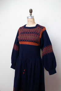 1970s Balloon Sleeve Knit Dress | Josephine Baker