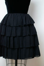Load image into Gallery viewer, 1960s Strapless Black Ruffled Dress | Rappi