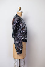Load image into Gallery viewer, 1980s Lightning Bolt Sequin Cardigan