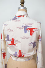 Load image into Gallery viewer, 1970s Crane Print Shirt
