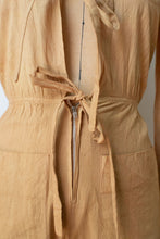 Load image into Gallery viewer, 1970s Tie Front Jumpsuit | Beige Dip Dye XS/S