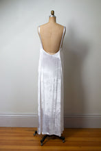 Load image into Gallery viewer, 1990s White Velvet Dress | Katayone Adeli