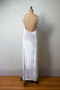 1990s White Velvet Dress | Katayone Adeli