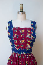 Load image into Gallery viewer, 1970s Floral Print Pinafore