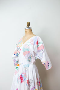 1980s Patchwork Dress | Love Apples by Stephanie