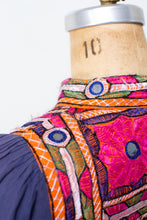 Load image into Gallery viewer, 1970s Embroidered Indian Cotton Dress