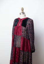 Load image into Gallery viewer, 1970s Mixed Print Dress