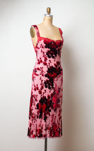 Load image into Gallery viewer, 1990s Burnout Velvet Dress | Betsey Johnson