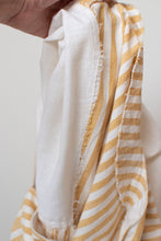 Load image into Gallery viewer, 1970s Yellow & White Striped Caftan