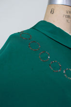 Load image into Gallery viewer, 1930s Emerald Green Gown w/ Caplet
