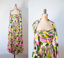 Load image into Gallery viewer, 1950s Rose Print Silk Jersey Gown Gown | Sophie Gimbel