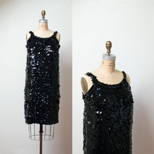 Load image into Gallery viewer, 1960s Black Sequin Cocktail Dress | Jeri-Jo