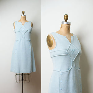 1970s Baby Blue Mod Space Age Dress | Courreges