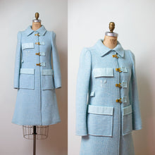 Load image into Gallery viewer, 1970s Baby Blue Space Age Mod Coat | Courreges Paris