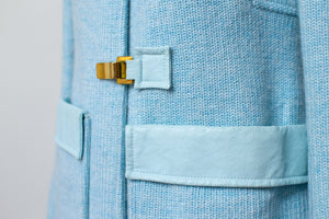 1970s Baby Blue Space Age Mod Coat | Courreges Paris