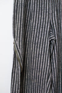1980s Striped Convertible Zip Side Cotton Trousers |  Issey Miyake