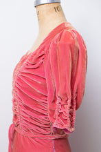 Load image into Gallery viewer, Reserved 1930s Pink Silk Velvet Gown