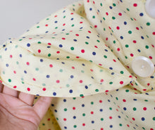 Load image into Gallery viewer, 1950s Pale Yellow Polka Dot Dress
